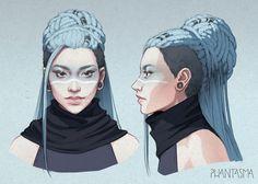 Cool hair | Phantasma: Leigh Design by DjamilaKnopf on DeviantArt