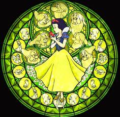 Snow White Stained Glass - Disney Princess Fan Art (31396713) - Fanpop