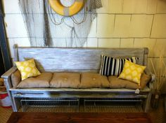 Antique church pew-for entry