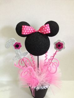 Minnie mouse centerpieces. .