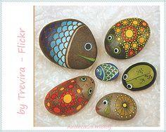 Pintando pedras!!!