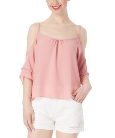 Love this Blush Shoulder-Cutout Top by ABSOLUTE ANGEL on #zulily! #zulilyfinds