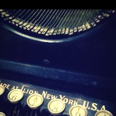 I have developed a fascination for antique typewriters...