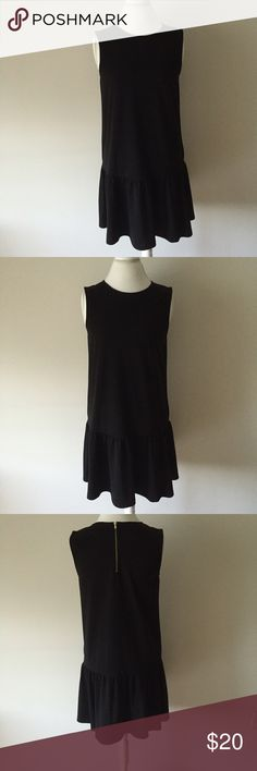 Black Drop Waist Dress Cute black drop waist dress with exposed zipper closure in back.  Only worn once - great condition, like new!  Machine wash. Size medium. H&M Dresses Mini