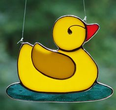 Rubber Ducky Stained Glass I need to make this for my bathroom!
