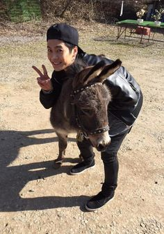 Jackson and his pet donkey