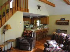 Vacation RentalThe Forest Hide-a-Way! This 3 BR 5 bath sleeps up to 8 people! This all-you-need rental has all essentials and just the right amount o Rental Homes, Real Estate Broker, Outdoor Pool, Bed, Furniture, Home Decor, Decoration Home, Stream Bed, Room Decor