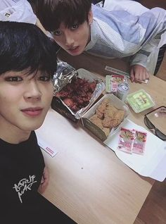My two favourite things Bangtan Boys amd food
