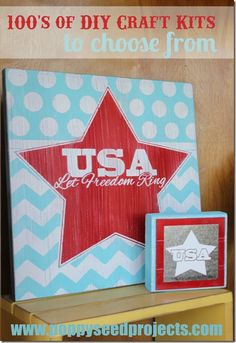 Need a fourth of July craft idea? Super cute ideas! #redwhiteandblue