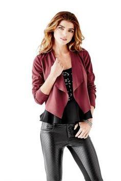 Charming Long-Sleeve Cropped Blazer | GUESS.com