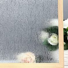 "Amazon.com: VELIMAX Static Cling Rain Glass Window Film Removable Rain Decorative Window Film Privacy Anti-UV Heat Control (17.7""x 78.7""): Home & Kitchen"