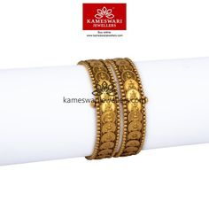 Elegant gold bangles collections by Kameswari Jewellers. Buy gold bangles online from South India's finest goldsmiths with 9 decades of expertise. Antique Jewellery Designs, Jewelry Design, Gold Bangles Design, Designer Bangles, Ruby Bangles, Bridal Jewelry, Gold Jewelry, India Jewelry, Jewels