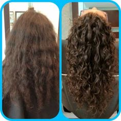 Permanent Waves Before And After