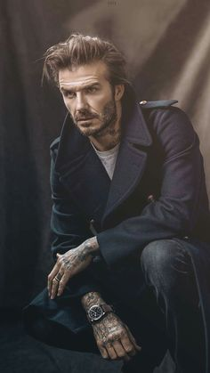 David Beckham - Tudor Watches Campaign on Looklive David Beckham Style, David Beckham Long Hair, Victoria And David, Bend It Like Beckham, Moda Formal, Studio Poses, Beard Styles For Men, Photography Poses For Men, Bearded Men
