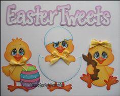 Cotillones y cuadros infantiles :: RT Decoraciones y algo más... Foam Sheet Crafts, Easter Colouring, Paper Piecing Patterns, Handmade Flowers, Cute Cards, Scrapbook Cards, Easter Crafts, Paper Flowers, Crafty