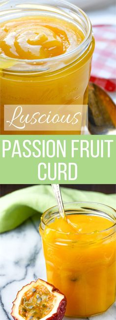 Garlic + Zest - Sweet Tart Passion Fruit Curd recipe