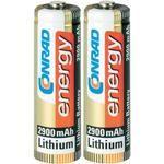 Conrad energy Extreme Power Lithium AA Battery 2900mAh x2 pc(s)