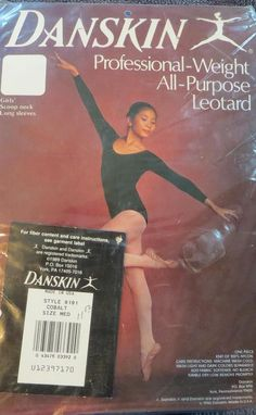vintage #80s danskin professional weight leotard nos sz m from $9.99