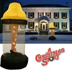 6 Foot Tall Inflatable Leg lamp From A Christmas Story I know someone that would love this for their lawn at Christmas! @Rosie Sonnier