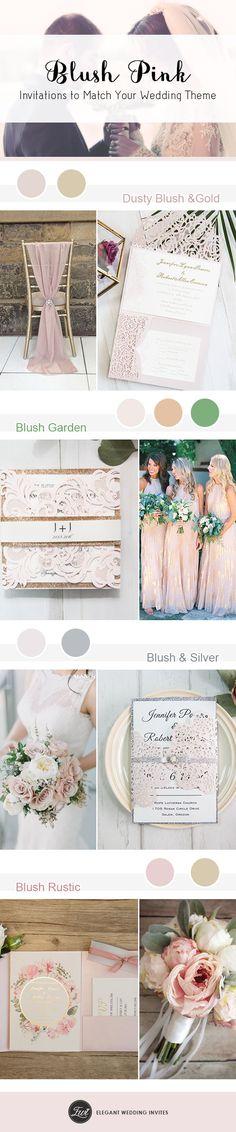 Hot blush wedding invitations