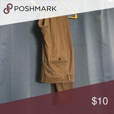 H&M khaki straight leg Barely worn. H&M Pants Straight Leg
