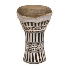 """Doumbek, Ceramic, 5""""x8"""", Inlaid $14.37"""