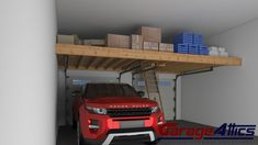 Turn Your Wasted Garage Space into Additional Storage Area. Custom Overhead Garage Storage Loft & Shelving. GET AN INSTANT COST ESTIMATE ONLINE RIGHT NOW!