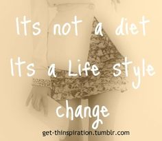 Yes!!! Why don't people understand this? You can eat healthy and NOT be on a diet.