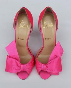 See more about pink bows, pink shoes and pink heels. fuchsia