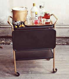 A DIY project on A Beautiful Mess blog, this restyled liquor cart will make any drink look a little bit sexier.