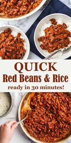 Canned Red Beans And Rice Recipe, Red Beans And Rice Recipe Vegetarian, Red Kidney Beans Recipe, Red Beans And Rice Recipe Easy, Easy Rice Recipes, Bean Recipes, Recipes With Red Beans, Vegetarian Recipes, Healthy Recipes