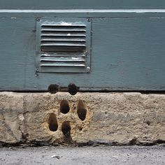 Concetto Spaziale (Spatial Concept)  Unintentional art of hand-drilled ventilation holes. Paris, France.