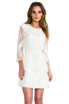 Dolce Vita Valentina Victorian Embroidery in White from REVOLVEclothing