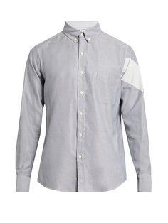 MONCLER GAMME BLEU Button-cuff cotton shirt. #monclergammebleu #cloth #shirt