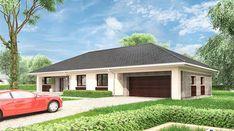 Berenika - murowana – ceramika - zdjęcie 4 Village House Design, Village Houses, Bungalow House Plans, Modern House Plans, Beautiful House Plans, Beautiful Homes, Modern Bungalow Exterior, Design Your Dream House, Garden Seating
