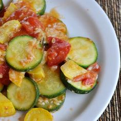 Skillet Squash Medley - used canned stewed tomatoes (drained). Excellent!
