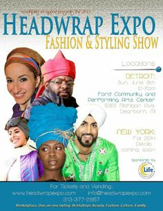 DETROIT, MI – Beautifully Wrapped presents THE HEADWRAP EXPO & FASHION SHOW, November 17, 2013 at the Fairlane Events Center of U-M Dearborn 19000 Hubbard Dr, Dearborn MI 48126 from 12:00pm -7:00pm.  From London, New York Runways and Prada, to the streets of Morocco, Malaysia and Nigeria, headwrapping is a global art enjoyed by women and men of all backgrounds.  Still in the U.S., people often misunderstand the cloth as some type of archaic, backwards, even womanizing practice.  In its…