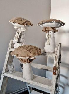 Jolis champignons en tissu
