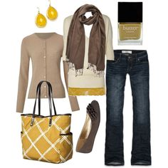 sunny yellow, created by htotheb on Polyvore