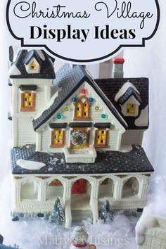 How to Create a Christmas Village Display from Marty's Musings