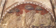 'création d' le animaux et création d' adam', fresques de Paolo Uccello (1397-1475, Italy)