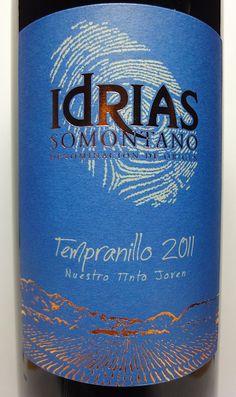 Idrias Tempranillo 2011. Somontano.