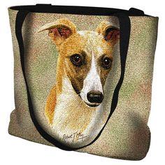 Whippet Dog Portrait Art Tapestry Tote Bag