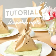DIY Hasen Geschenktüte Sweet Surprise: Gift wrapping for Easter! Easy Easter Crafts, Crafts For Kids, Easter Ideas, Easter Table, Easter Eggs, Easter Bunny Decorations, Easter Baskets, Decor Crafts, Happy Easter