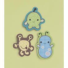 Cocalo Baby Peek A Boo Monsters 3-piece Wood Wall Art, $29.99$23.99 Decorate your nursery wall with the CoCaLo Peekaboo Monsters 3 Piece Wood Wall featuring a charming cast of friendly little monsters with distinctive raised detailing on their captivating little eyes. Easy to hang on any hook, nail, or peg using the saw tooth hangers located on the back. Dimensions: 8.75 x 9.5, 8 x 12, 9.25 x 9.75