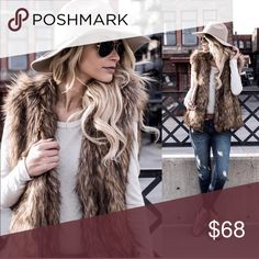 1 hr SALE🔥Stylish & Chic Faux Fur Vest- brand new This gorgeous faux fur vest is the plush essential your wardrobe is begging for this season. Wrap yourself in the warmth and comfort of this luxe outerwear. Fits a small to medium comfortably. Brand new without tags. Fast shipping, bundle & save. Tagged at SD for styling only Somedays Lovin Jackets & Coats Vests