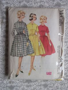 1960's Vintage Sewing Pattern  McCall's Printed by ankiradesign