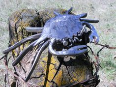 Crab Metal Sculpture Yard Art Garden Art by rustaboutcreations, $76.95