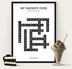 My Favorite food poster - A poster for the food lover
