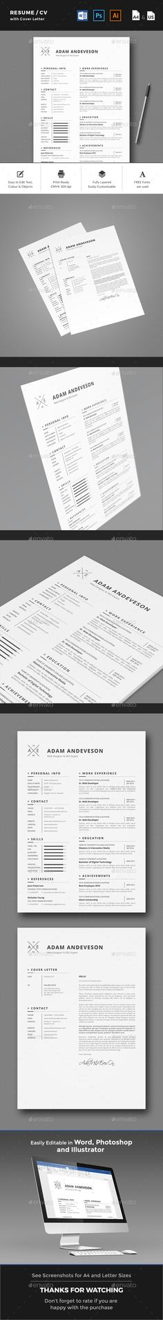 Resume   CV Resume cv, Cv template and Modern resume - resume paper